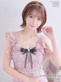 【XSサイズあり】スパンコール刺繍レース×フリルスリーブタイトミニドレス(fm1945)