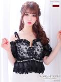 【XSサイズあり】フラワー刺繍レース×ストレッチタイトドレス(fm1965A)