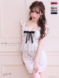 【XS~Lサイズあり】立体ラメ刺繍レース×ペプラムタイトミニドレス(fm1989)