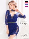 【XS~Lサイズあり】Glitter lacy dress[チョーカー付き](GL2193B)
