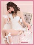 【XSサイズあり】ジュエリー×リボンタイトミニドレス(fm2200)
