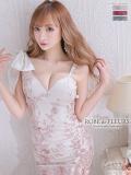 【XS~Lサイズあり】立体刺繍レース×アシンメトリータイトミニドレス♡(fm2322)