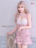 【XSサイズあり】パールフラワーレース×スカートパンツセットアップドレス♡(fm2420)