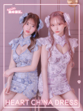 【XS~Mサイズあり】Heart China Dress [ヘッドアクセ付き](anier4006)