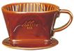 陶器製コーヒードリッパー 101-ロトブラウン 【Kalita/01003】