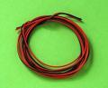 シリコンワイヤー (30AWG) 赤・黒 各1m計2m
