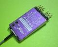 Cooltec 2.4G 4ch受信機 RSF04 フタバ S-FHSS互換 赤紫1線