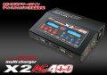 【送料無料】ハイテック X2 AC PLUS 400 充電器 (Li-HV 対応)
