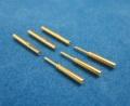 0.8mm金コネクター オス/メス 3個セット シュリングチューブ付き(極細)