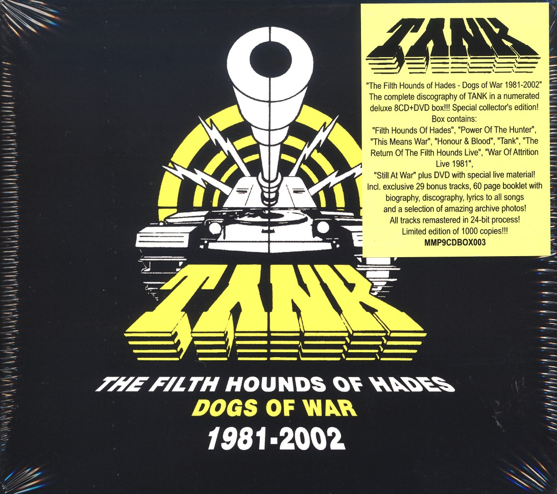 TANK (UK) / The Filth Hounds Of Hades - Dogs Of War 1981-2002 (8CD+DVD box set)
