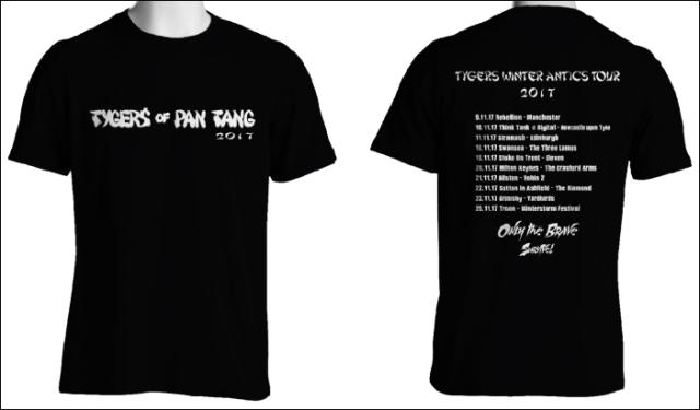 TYGERS OF PAN TANG (UK) / 2017 UK Tour T-shirt