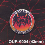 DEVIL'S RECORDS/PIN (43mm)