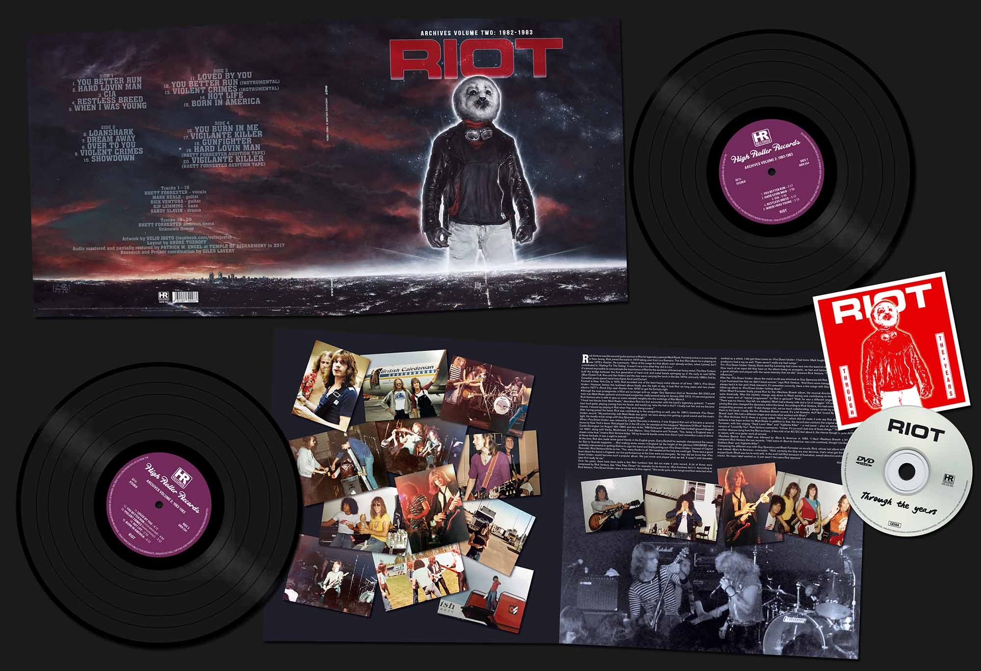 "RIOT (US) / Archives Volume 2: 1982-1983 (12""DLP+DVD)"