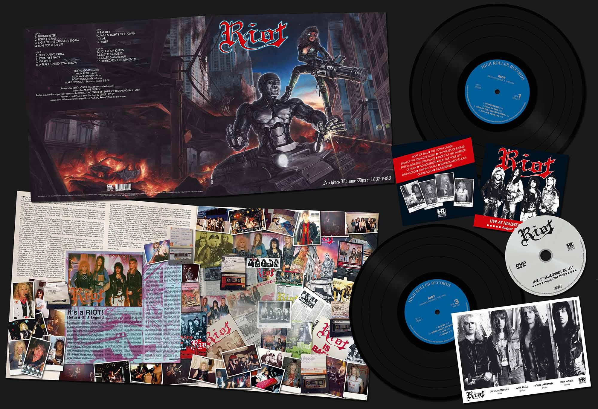 "RIOT (US) / Archives Volume 3: 1987-1988 (12""DLP+DVD)"