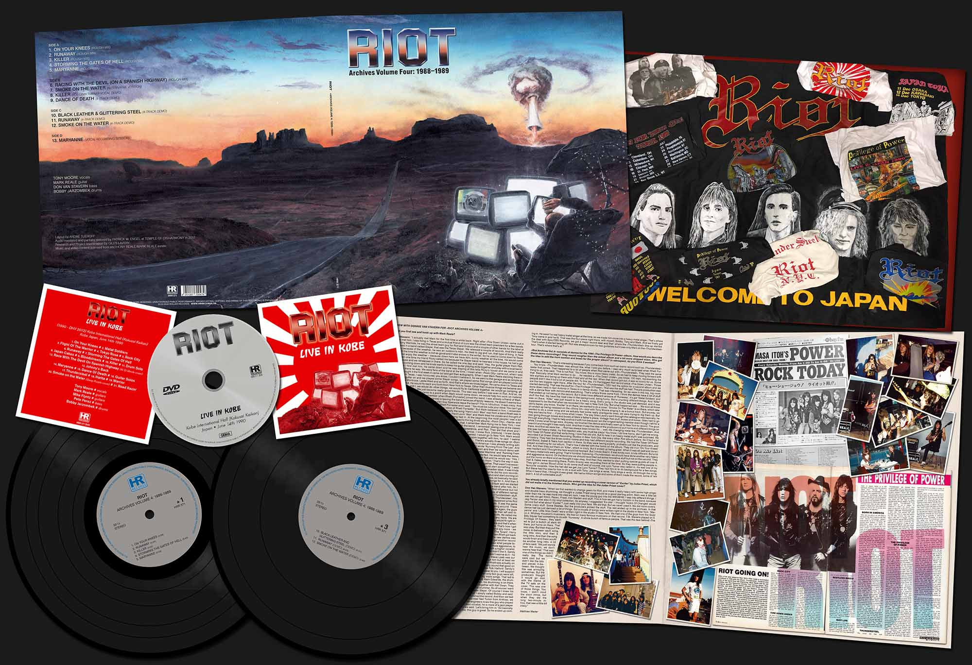 "RIOT (US) / Archives Volume 4: 1988-1989 (12""DLP+DVD)"