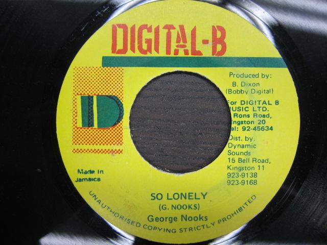 George Nooks / SO LONELY / DIGITAL-B