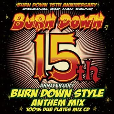 BURN DOWN / BURN DOWN STYLE 15th ANNIVERSARY ANTHEM MIX -100% DUB PLATES MIX-