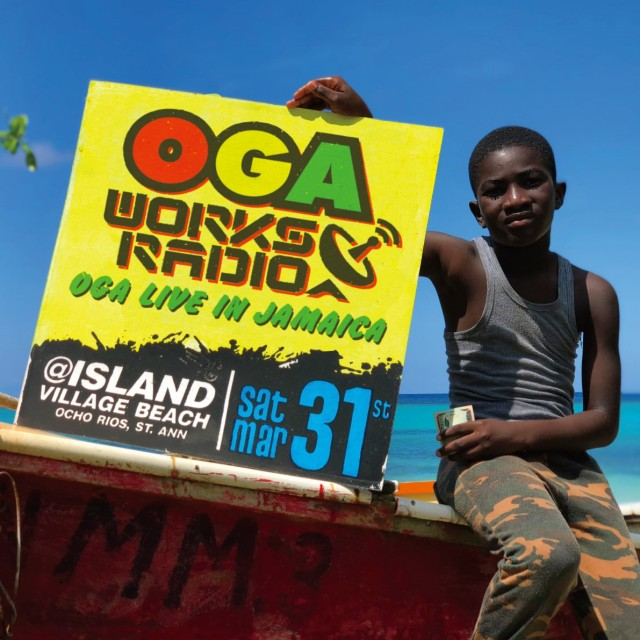 5月4日発売 OGA from JAH WORKS / OGA WORKS RADIO MIX VOL.8 -OGA LIVE IN JAMAICA-