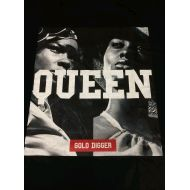 Description Tシャツ QUEEN 黒(L)
