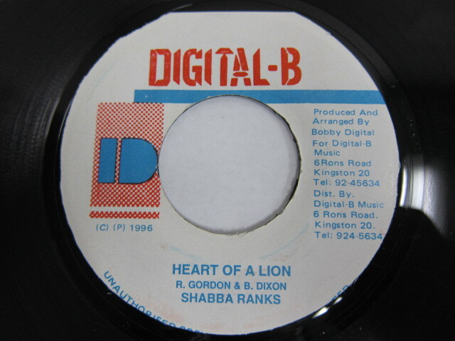 SHABBA RANKS / HEART OF A LION / DIGITAL-B