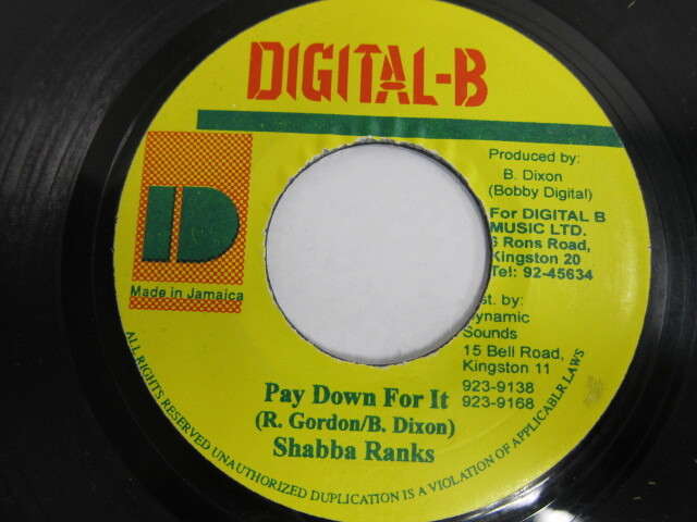 Shabba Ranks / Pay Down For It / DIGITAL-B