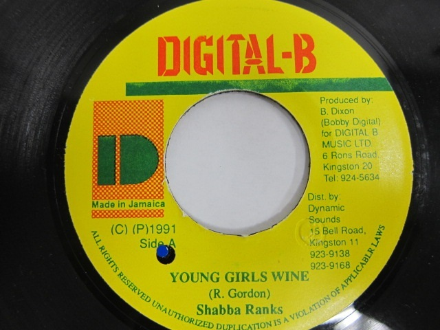 Shabba Ranks / YOUNG GIRLS WINE / DIGITAL-B