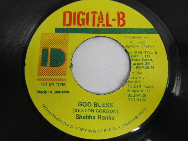 Shabba Ranks / GOD BLESS / DIGITAL-B