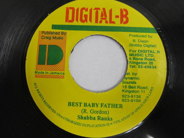 Shabba Ranks / BEST BABY FATHER / DIGITAL-B