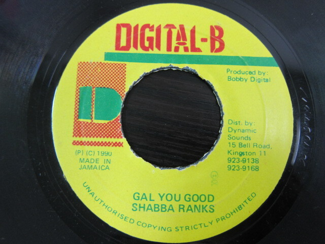 SHABBA RANKS / GAL YOU GOOD / DIGITAL-B