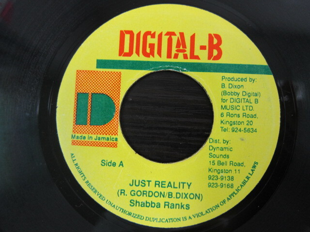 Shabba Rankin / JUST REALITY / DIGITAL-B