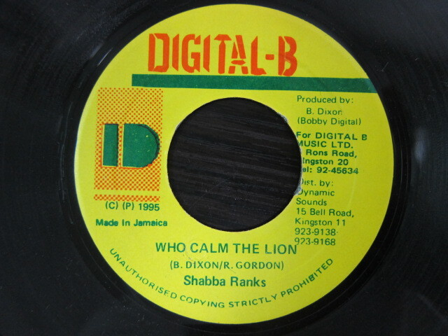 Shabba Ranks / WHO CALM THE LION / DIGITAL-B