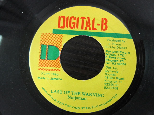 Ninjaman / LAST OF THE WARNING / DIGITAL-B
