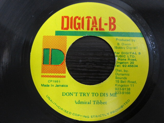 Admiral Tibbet / DON'T TRY TO DIS ME / DIGITAL-B
