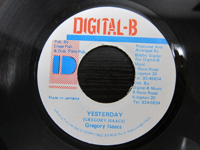 Gregory Isaacs / YESTERDAY / DIGITAL-B
