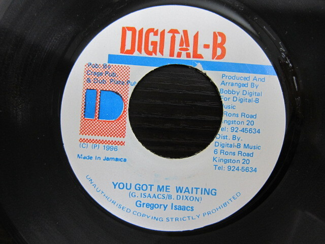 Gregory Isaacs / YOU GOT ME WAITING / DIGITAL-B