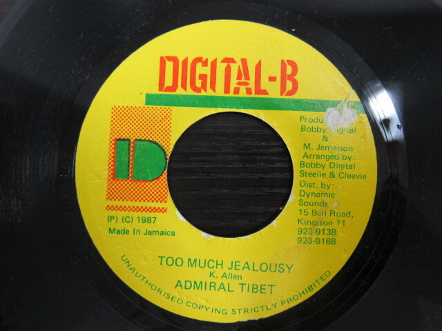 ADMIRAL TIBET / TOO MUCH JEALOUSY / DIGITAL-B