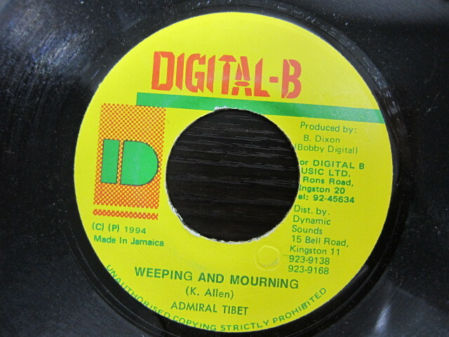 Admiral Tibet / Weeping & Mourning / DIGITAL-B