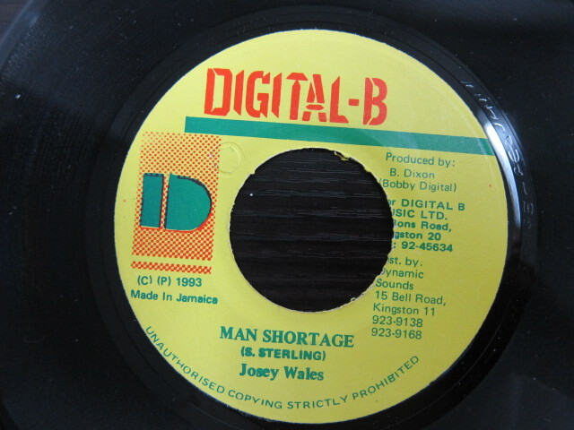 Josey Wales / MAN SHORTAGE / DIGITAL-B