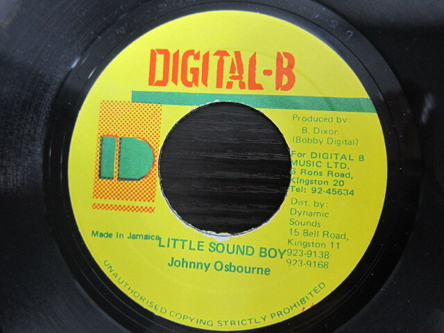 Johnny Osbourne / LITTLE SOUND BOY / DIGITAL-B