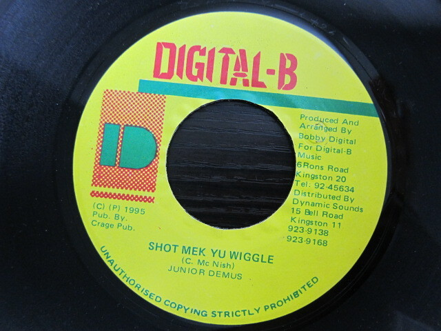 JUNIOR DEMUS / SHOT MEK YU WIGGLE / DIGITAL-B
