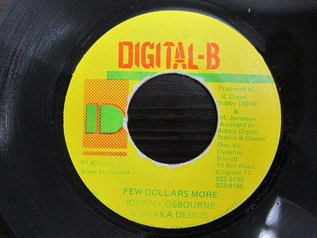 JOHNNY OSBOURNE & CHAKA DEMUS / FEW DOLLARS MORE / DIGITAL-B