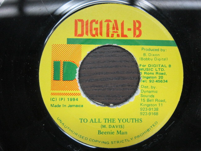 Beenie Man / TO ALL THE YOUTHS / DIGITAL-B