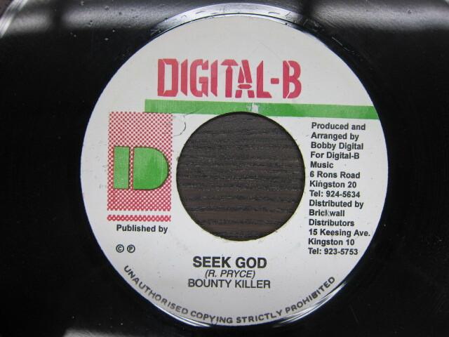 BOUNTY KILLER / SEEK GOD / DIGITAL-B