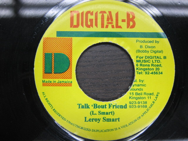 LEROY SMART / TALK BOUT FRIEND / DIGITAL B