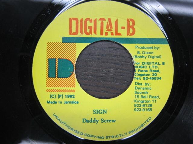 Daddy Screw / SIGN / DIGITAL-B