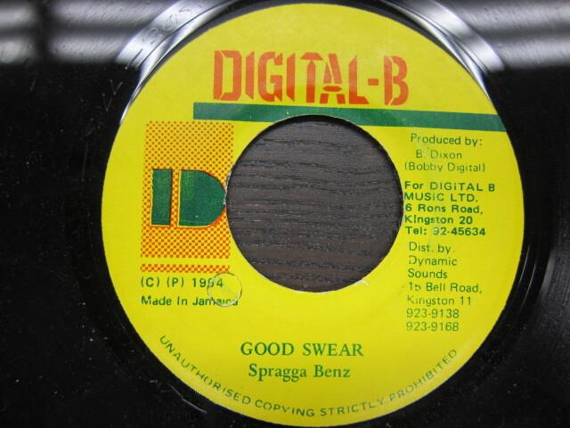 Spragga Benz / GOOD SWEAR / DIGITAL-B