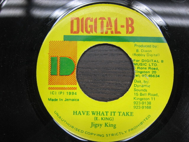 Jigsy King / HAVE WHAT IT TAKE / DIGITAL-B