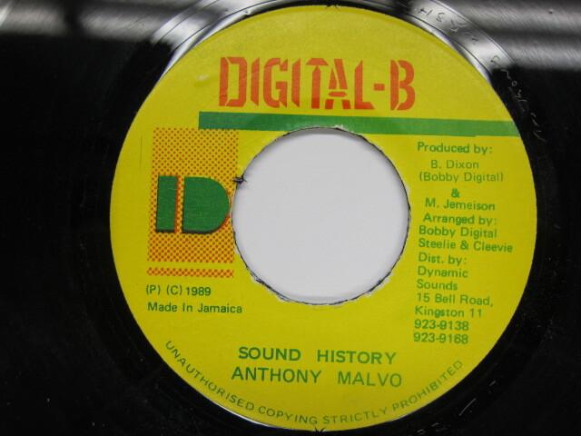 Anthony Malvo / Sound History / DIGITAL-B