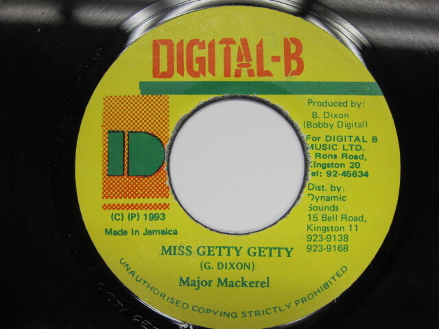 Major Mackerel / MISS GETTY GETTY / DIGITAL-B