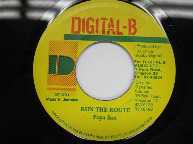 Papa San / RUN THE ROUTE / DIGITAL-B